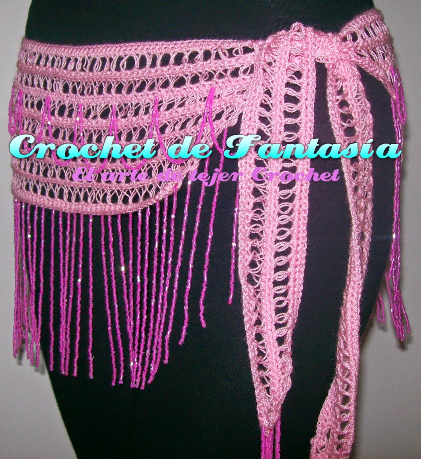 Crochet, ganchillo, mostacillas rosadas, rosado, hecho a mano, caderín, danza Árabe, bellydance