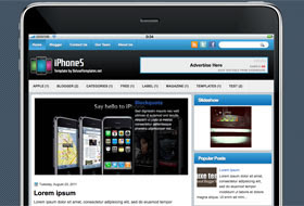 iPhone5 Blogger Template