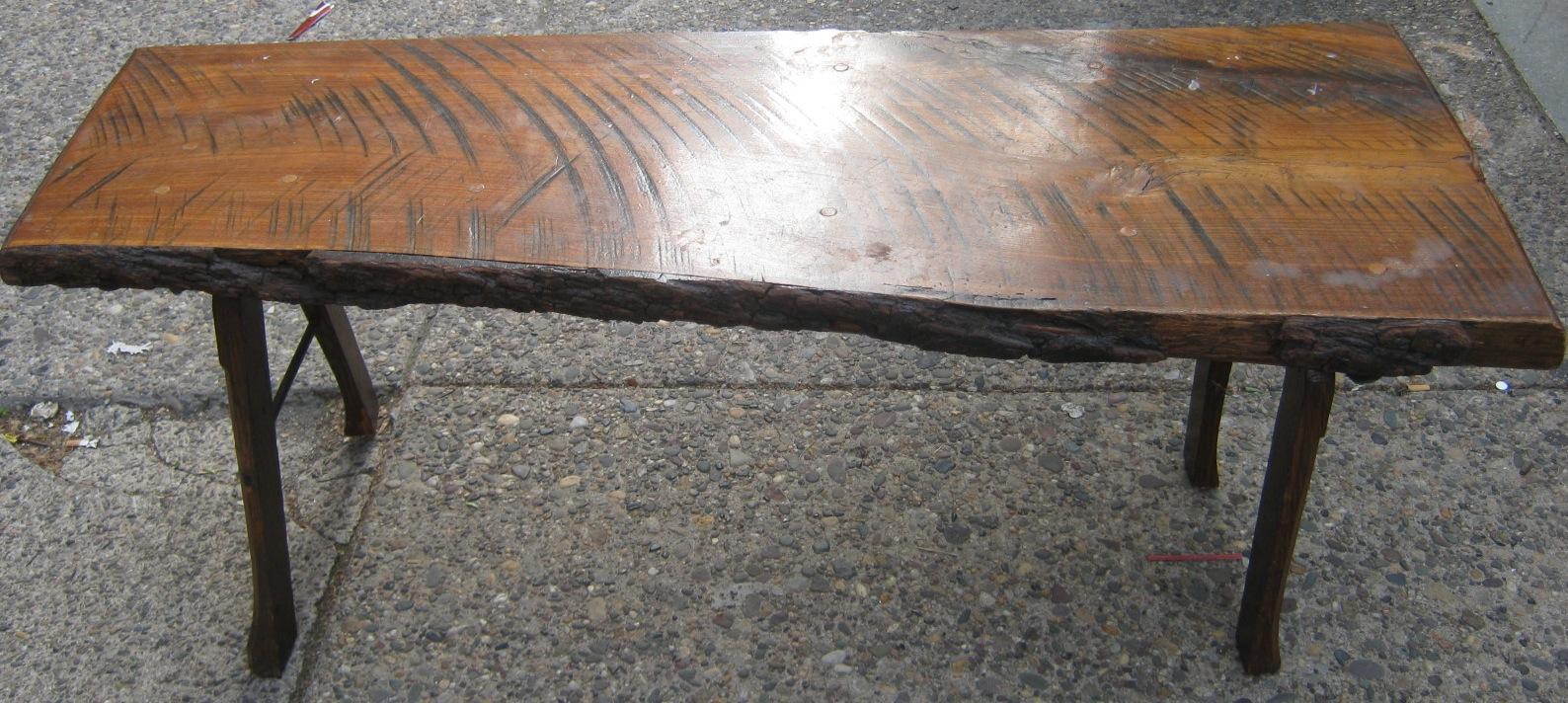 Uhuru furniture collectibles burl wood bench