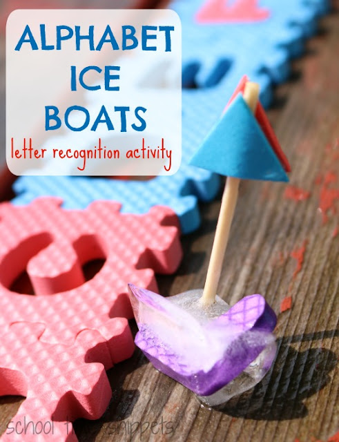 Beat the summer heat AND work on letter ecognition with Alphabet Ice Boats!