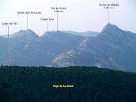 La Serra de Picancel des del miador del Camí de l'Aigua