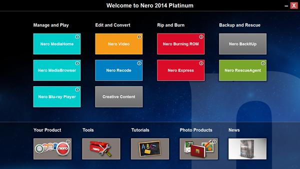 Nero 2014 Platinum เวอร์ชั่นเต็ม