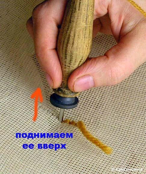 Иглу для ковровой вышивки своими руками