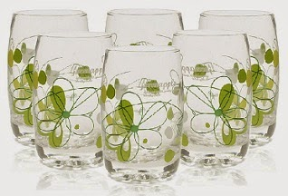 Green Apple Orchid Petals Glasses- Set of 6 worth Rs.320 for Rs.139 Only with Free Shipping @ Pepperfry