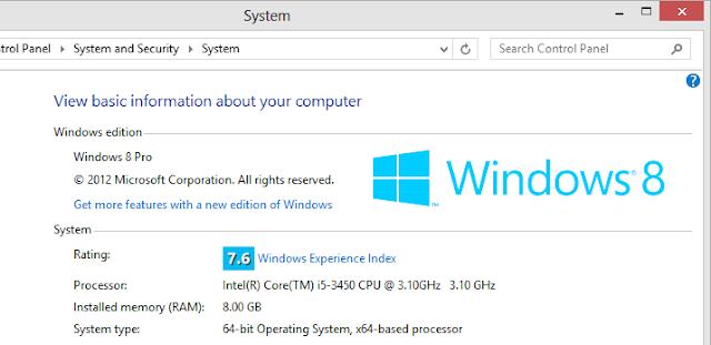 Bật cửa sổ xem thông tin hệ thống