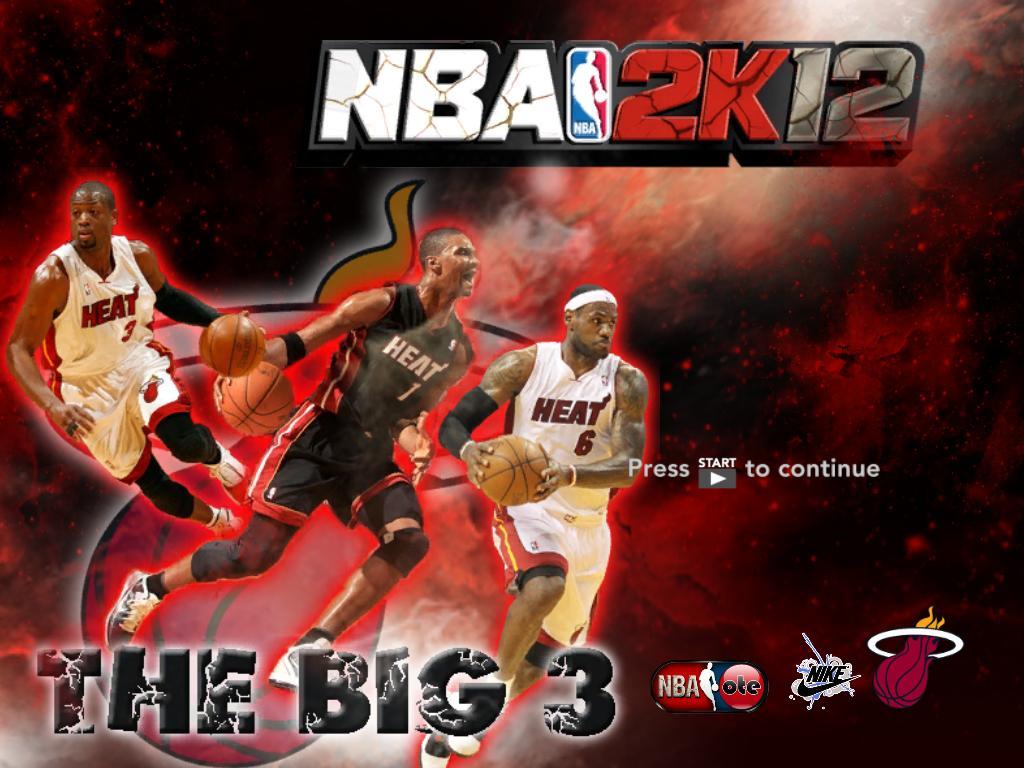 Dwyane Wade, Chris Bosh & Lebron James of Miami Heat