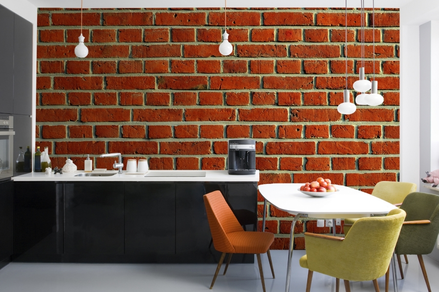 Mix and chic giveaway murals wallpaper worth up to 500 Red brick wallpaper living room