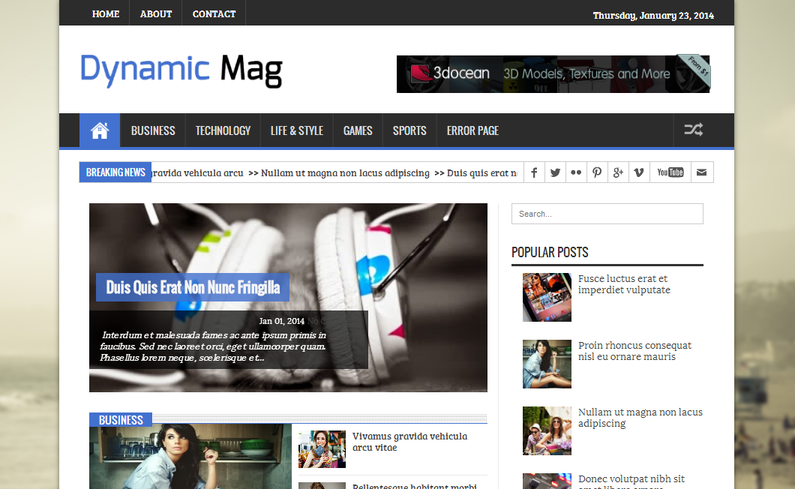 Dynamic Mag Blogger Template Free download 2016 | Best Blogger Zone