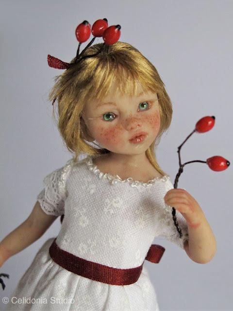 ooak art doll modellata in pasta sintetica