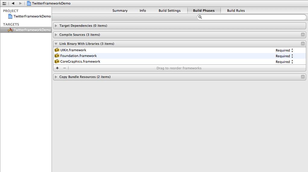 Xcode link binary libraries optional