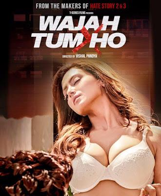 Poster Of Bollywood Movie Wajah Tum Ho 2016 300MB Pdvd Full Hindi Movie