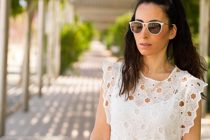 BLogger de Valencia con vestido blanco tendencia de verano