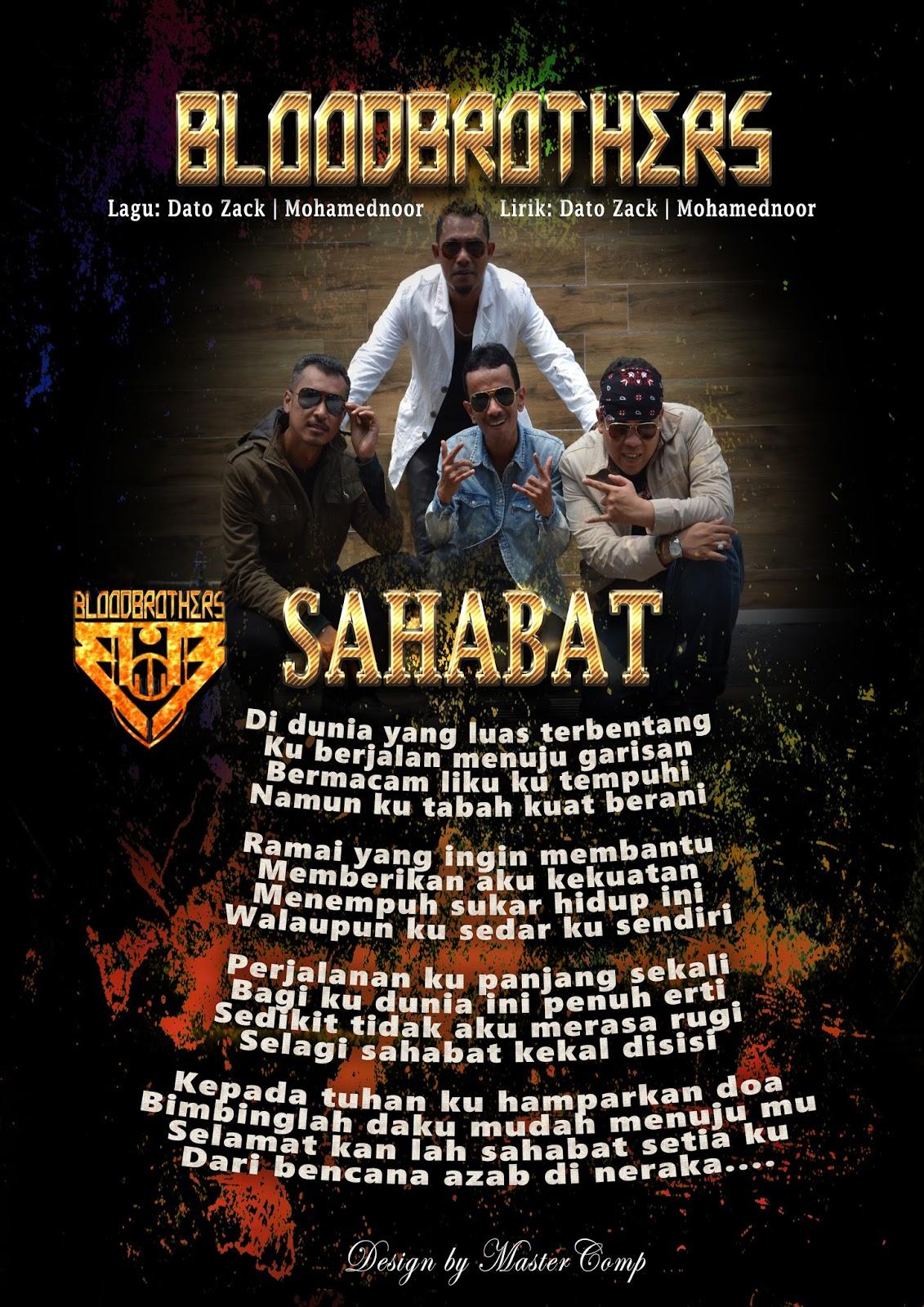 Lirik Bloodbrothers - Sahabat