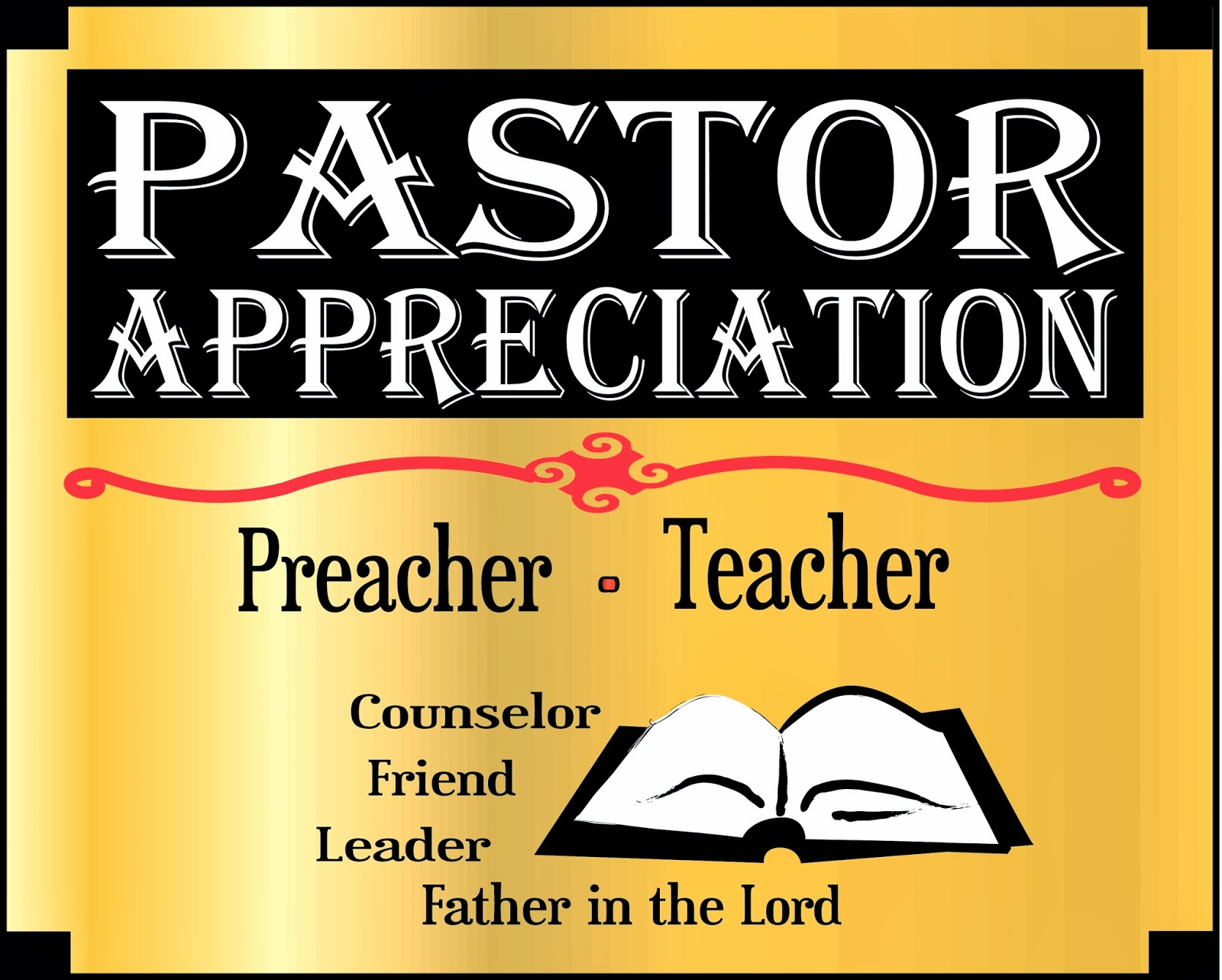 pastor and wife appreciation clip art