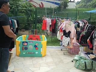 Flea Market selling baby barricade