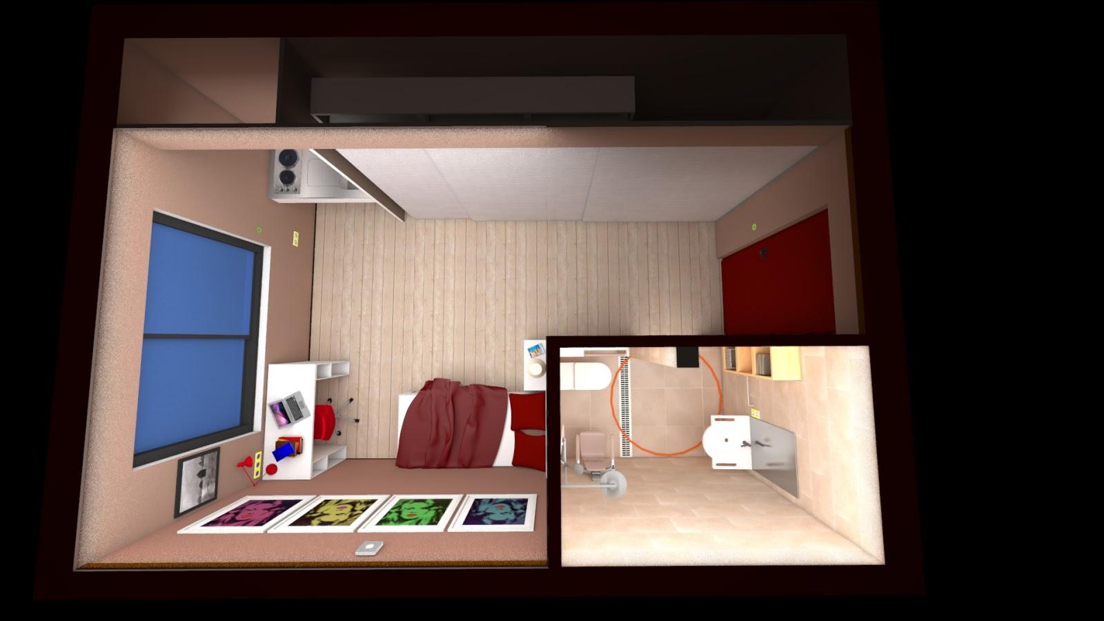 Actualit s architecture chambres d 39 tudiant 1 exemples for Chambre etudiant 13