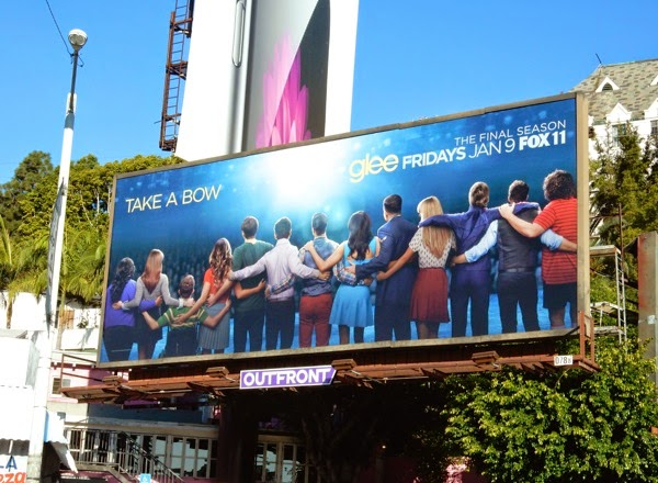 Glee final season 6 Take a bow billboard