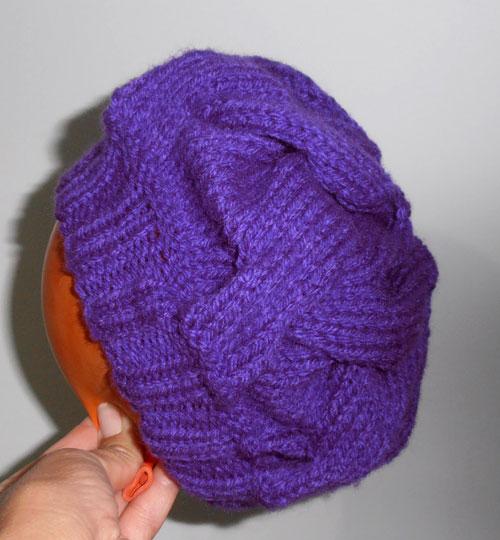 Knitting Terms M1 : Mimos de m�e boina roxa receita
