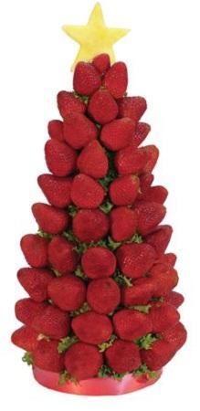 Frutas para navidad decoraci n con fresas - Decorar pinas naturales ...