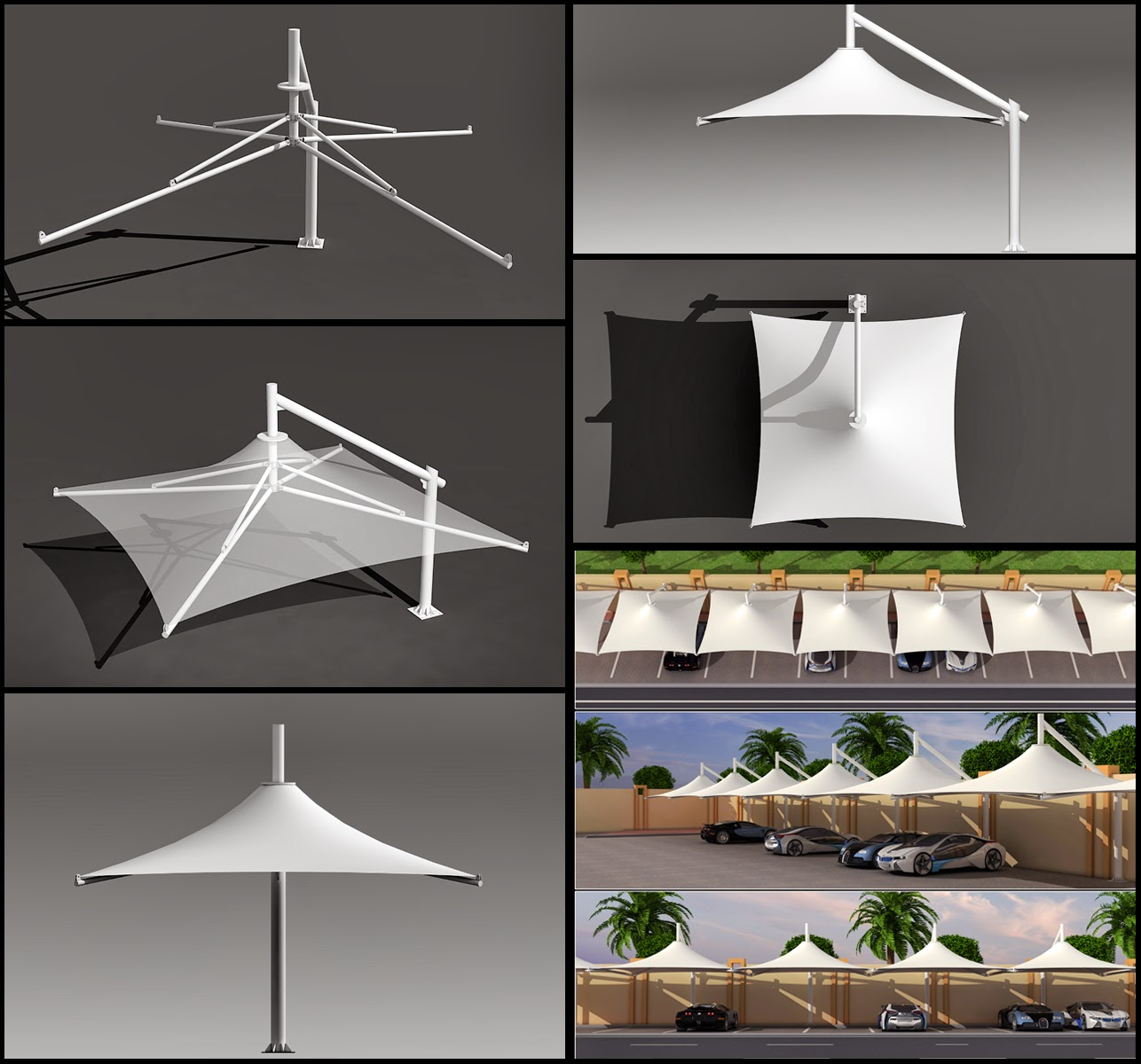 Car parking shade designs for Latest arch designs