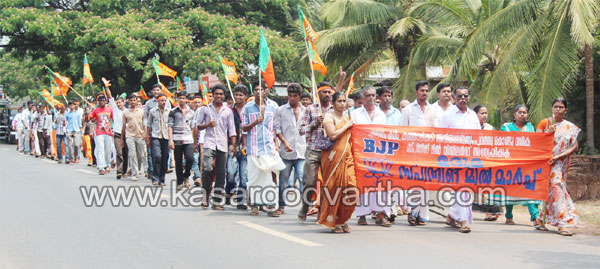 March, BJP, Kerala, kasaragod, Udma, UDF, Police, P.K.Kunhalikutty, Vigilance-raid, K.Surendran, udma-textiles-mill, Baburaj, Spinning Mill, Pullur, Kunhiran, Ganga Sadhashivan, Strike, Protest, Kerala News, International News, National News, Gulf News, Health News, Educational News, Business News, Stock News, Gold News.