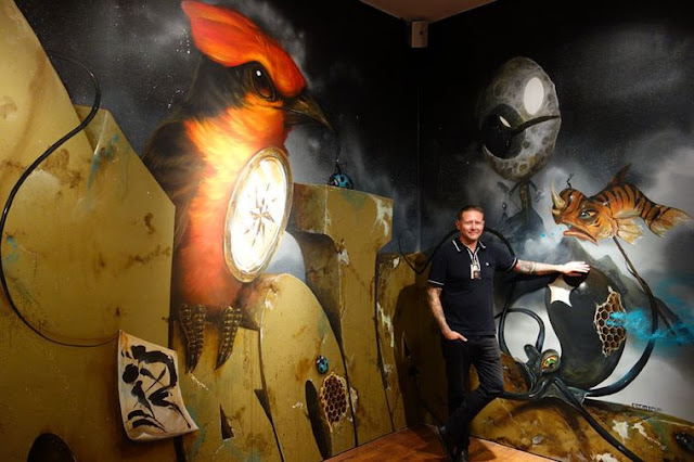 "Green Pear Diaries, arte urbano, Museo de Arte de Long Beach, Vitality and Verve, Greg ""Craola"" Simkins"