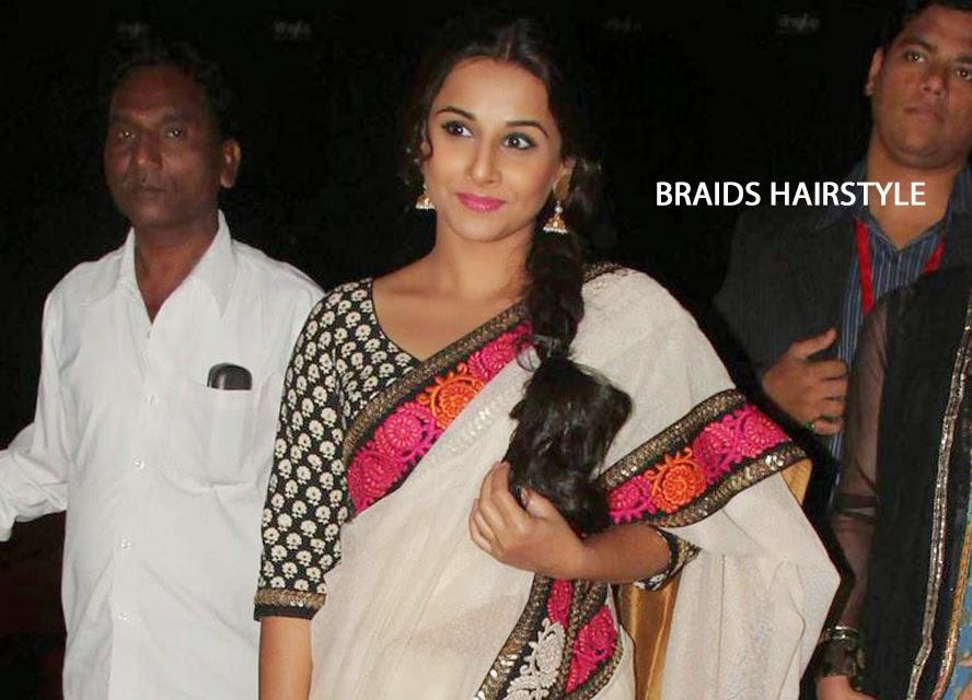 Vidya Balan with Braids Hairstyle