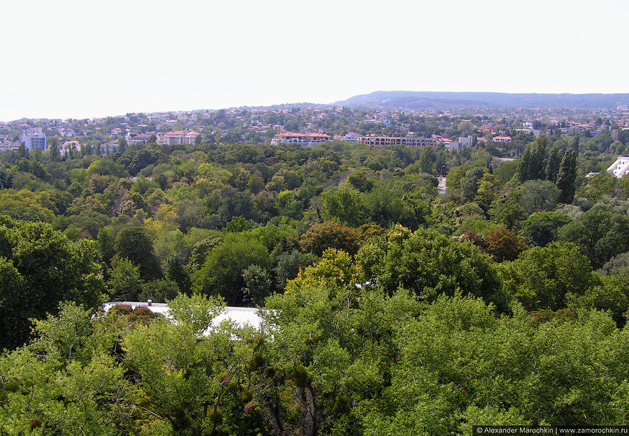 Курорт Святые Константин и Елена, Болгария. Вид на юго-запад сверху.