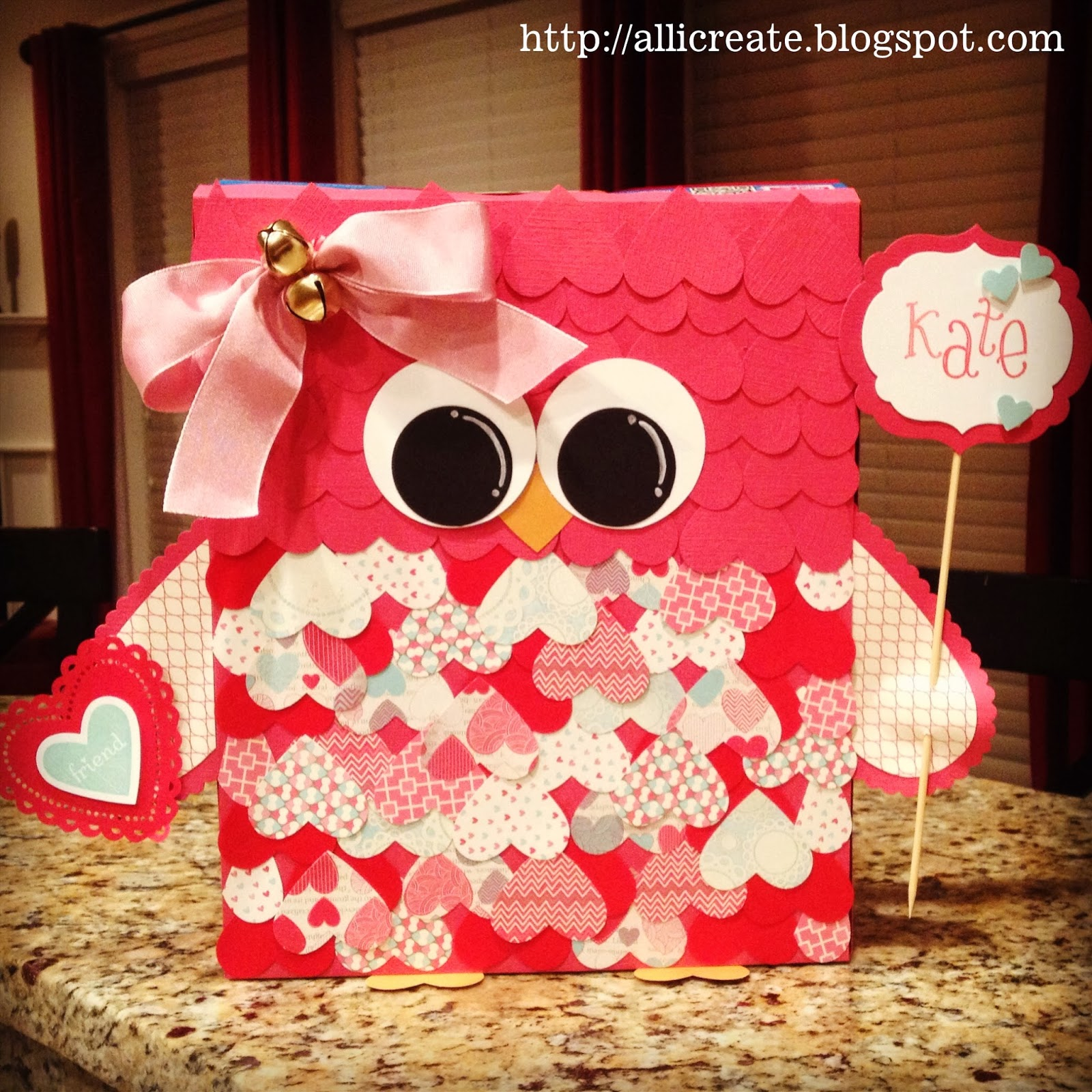 school valentines box via all i create - Valentine Boxes For Girls