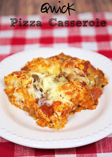 quick pizza casserole mrs happy homemaker