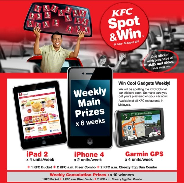 kfc spot and win contest