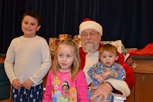 The kids with Santa!!