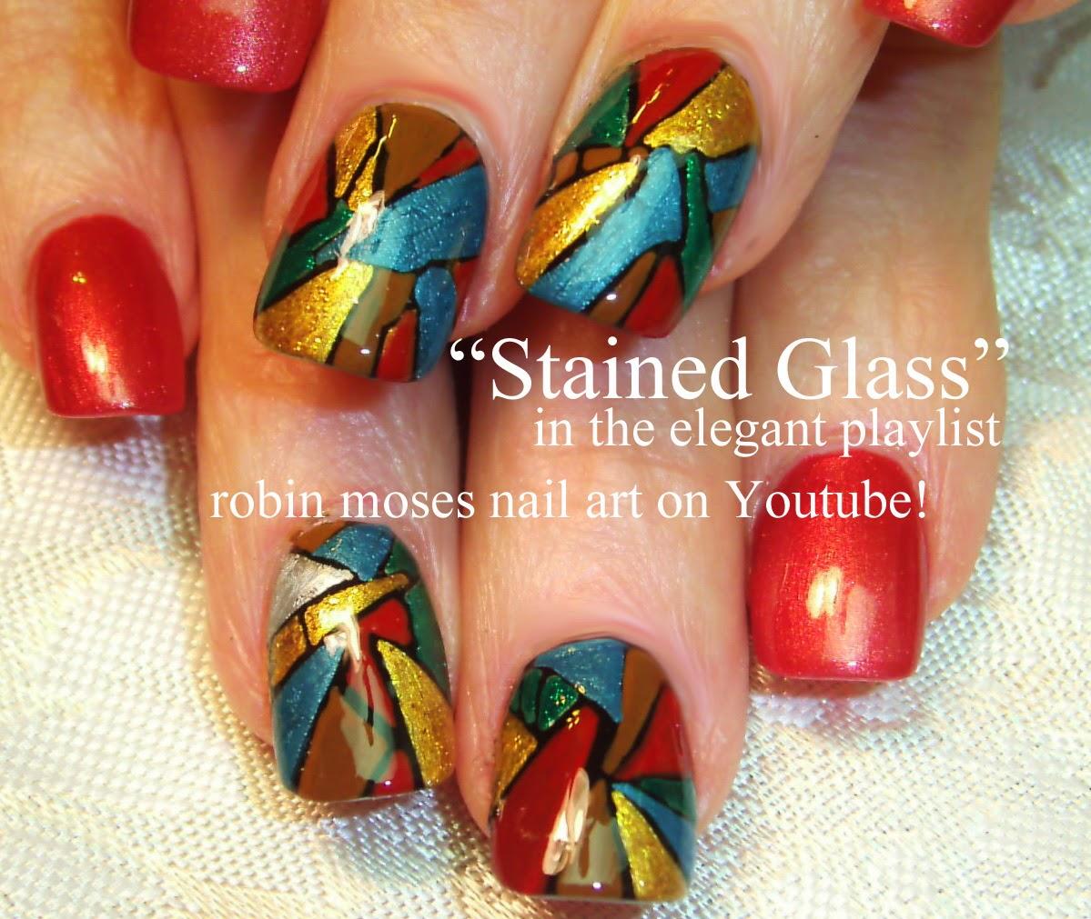 Robin moses nail art stained glass nails valentines day nail httpsyoutubeuserrobinmosesnailart nail art design ideas prinsesfo Choice Image