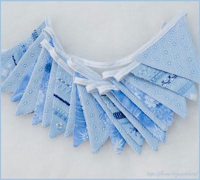 новогодняя гирлянда своими руками, гирлянда шитье, гирлянда с вышивкой, голубая гирлянда, растяжка своими руками