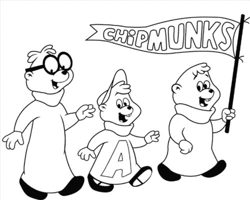 Alvin And The Chipmunks Coloring Pages Free For Kids >> Disney ...