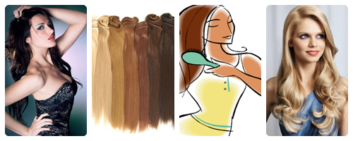 Como cuidar las extensiones de pelo mini collage