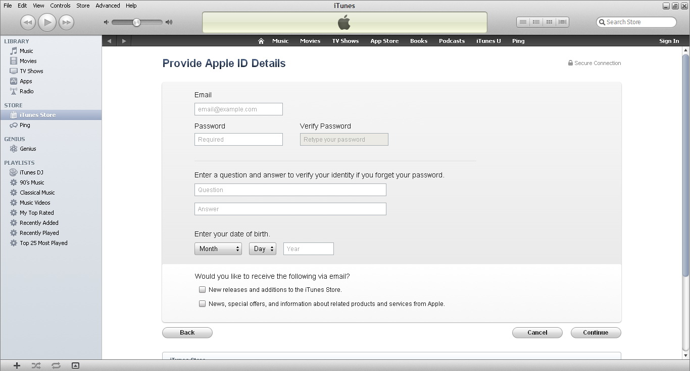 how to create a us app store account