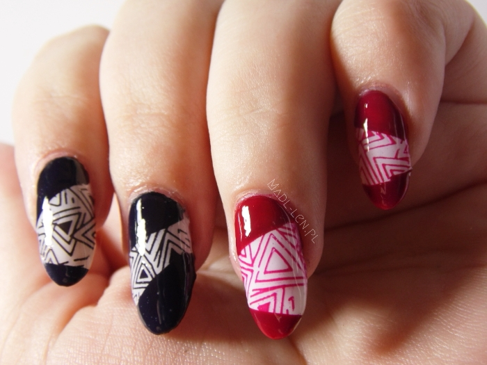 op art, geometric nails, nail art