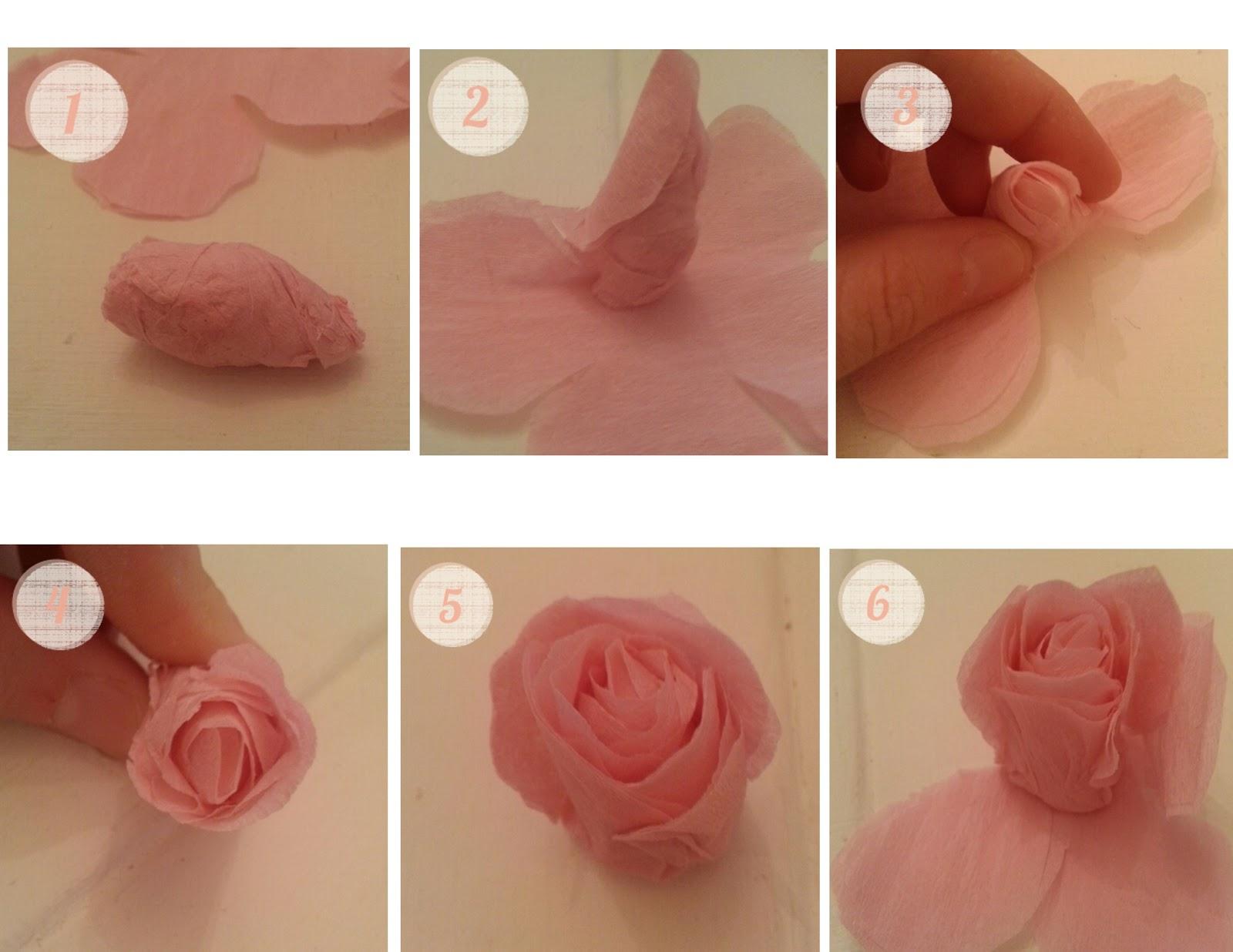 Paper Rose Cut Out Jpeg Paper Rose Template