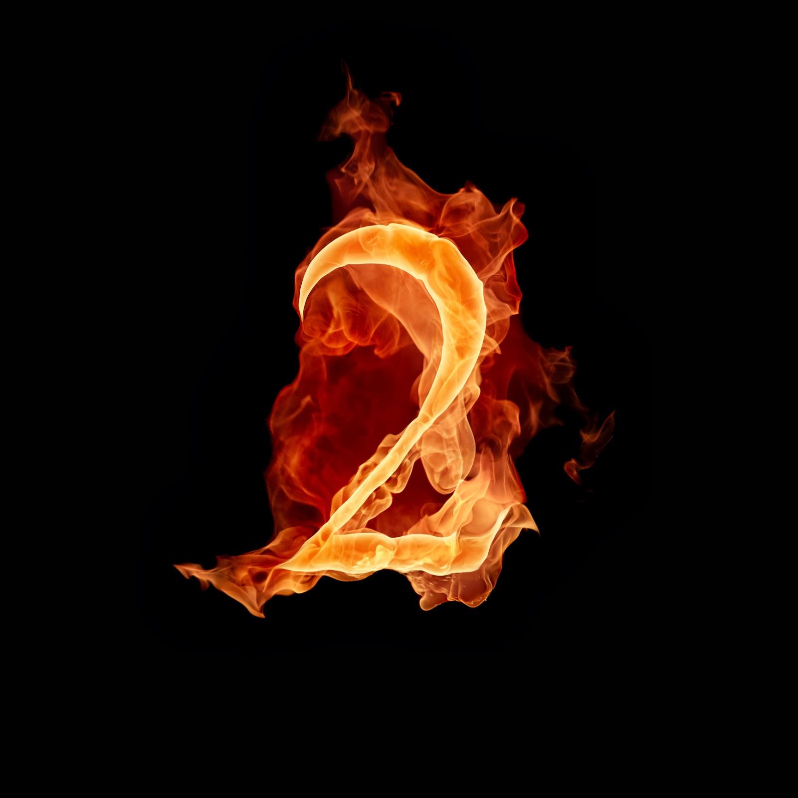 Fire Alphabet Wallpaper