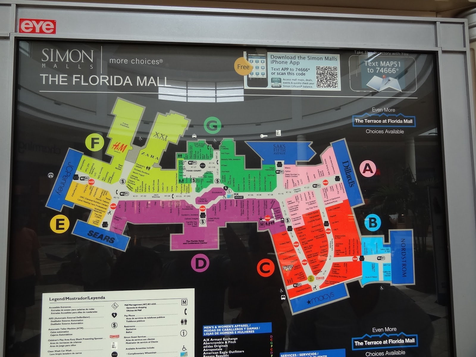 Map Of Florida Mall Orlando You Can See A Map Of Many Places On - Florida mall map