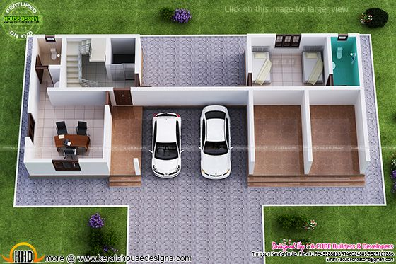 Ground floor isometric view