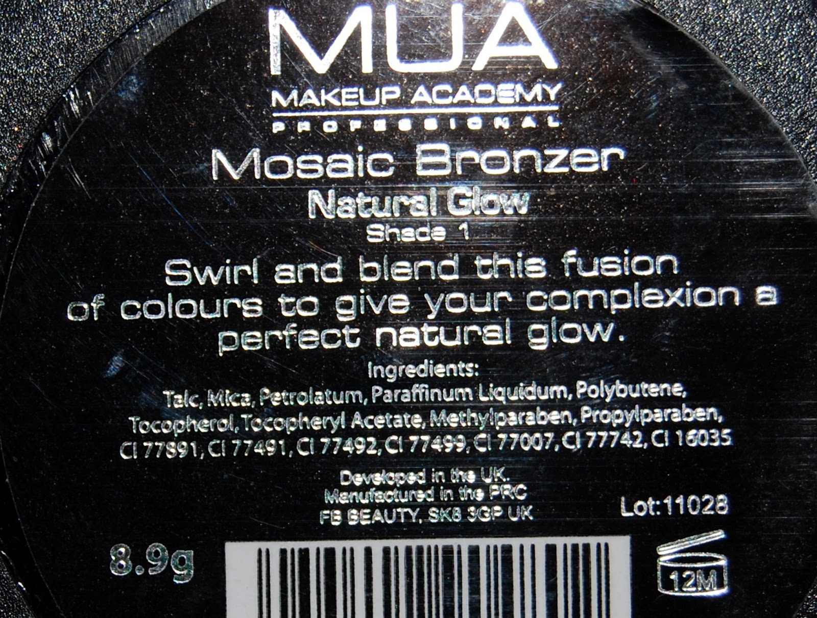 MUA Mosaic Bronzer Natural Glow, Shade 1 Ingredients