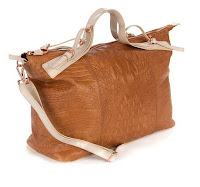 Calum Embossed Exotic Ted Bag In Tan