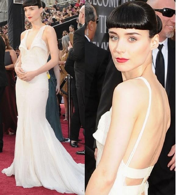 Look Rooney Mara Oscar 2012