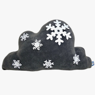 Etsy Snowflakes Cloud Pillow.