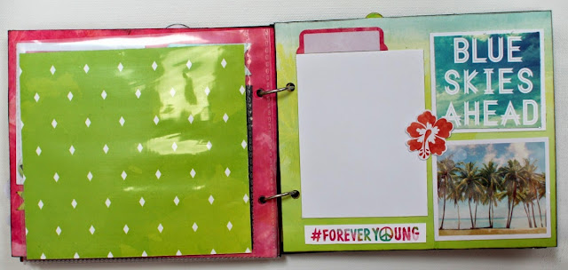 Birthday Mini Album by Ilene Tell using BoBunny # Forever Young Collection 4