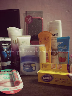 close up, dove body lotion, everyuth strawberry scrub, maybelline baby lips, sun screen, hair brush, vega hair brush, body was, lux body wash, haul, beauty haul, winter haul