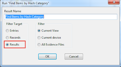 Run Find Items by Hash Category
