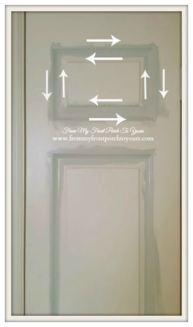 First start with door insets when painting doors-Painting tips From My Front Porch To Yours